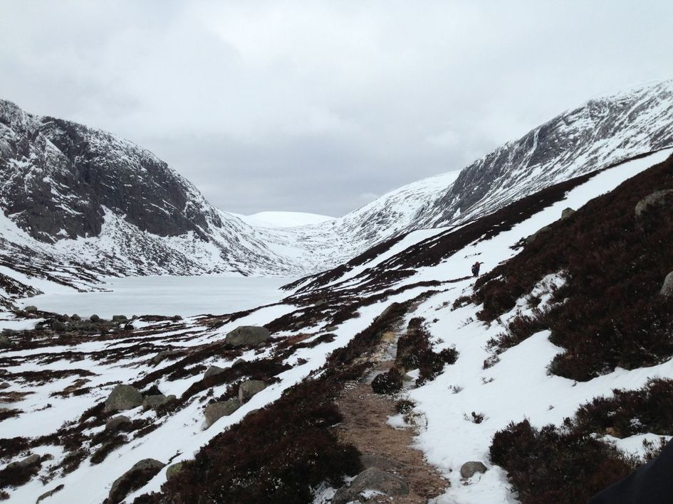 The view across to Dubh Loch, completely frozen.