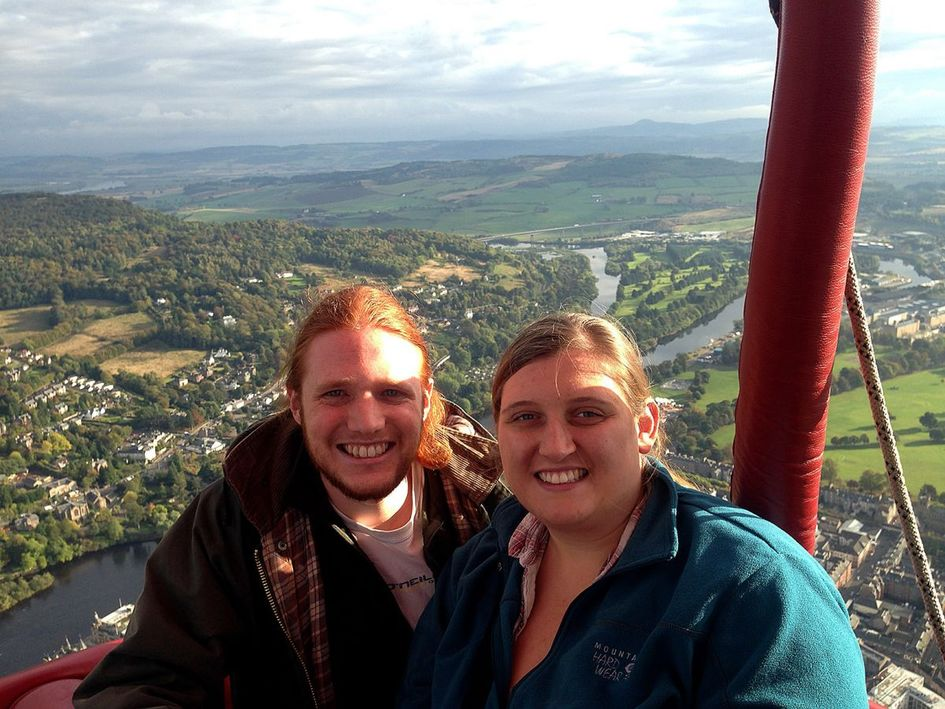 Laura and I on our hot air balloon flight.