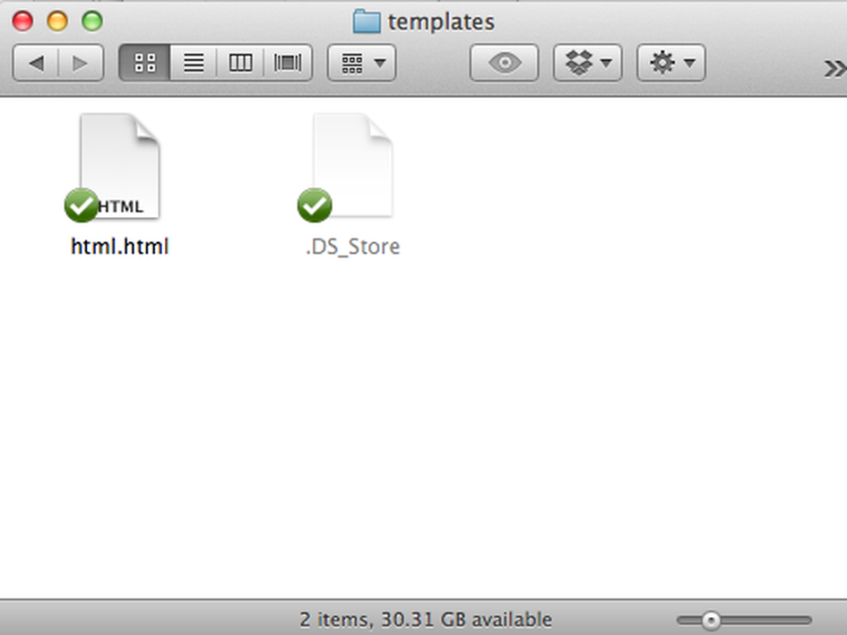 Putting filetype templates into the New File extension for Alfred App