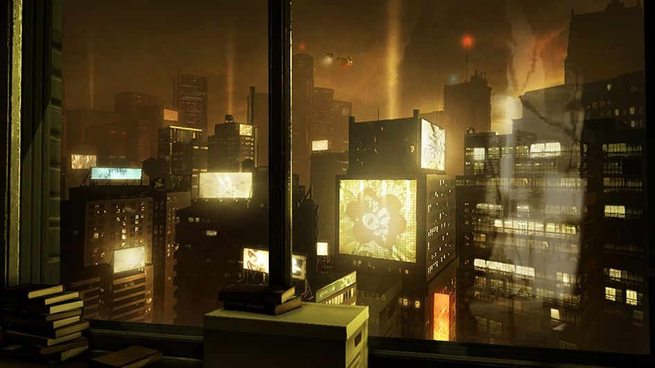Deus Ex city view.