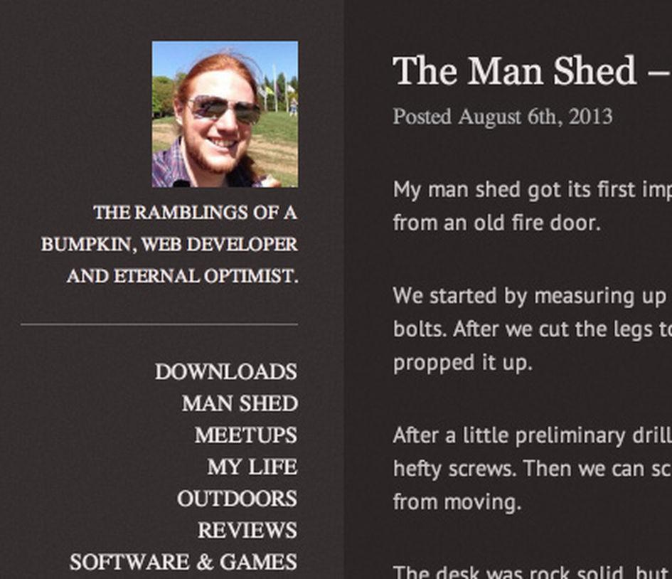 My old blog design pre 2013